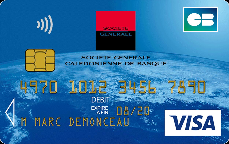 Carte Bleue Transparente.Carte Bleue Visa Societe Generale Caledonienne De Banque